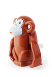 Het uurwerk bruine waggish aap van het stuk speelgoed Royalty-vrije Stock Afbeelding