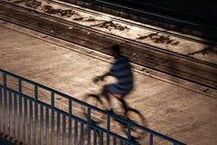 Het vage fiets overgaan Stock Foto
