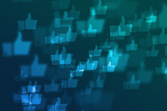 Het vage sociale netwerk defocused achtergrond Royalty-vrije Stock Afbeelding