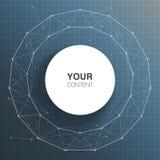 Het vakje van de cirkeltekst ontwerp voor uw inhoud royalty-vrije illustratie