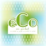 Het vakje van de het embleemtekst van het Ecoproduct bio Royalty-vrije Stock Afbeeldingen