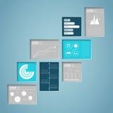 Het Vakje van de Infographictekst Binnenschaduwen Royalty-vrije Stock Afbeeldingen