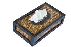 Het vakje van het papieren zakdoekje Stock Foto