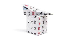 Het Vakje van Planeand van het Document van de kalender Royalty-vrije Stock Foto
