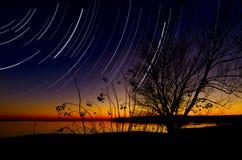 Het Vallen van de avond van het Meer van Benbrook Stock Afbeeldingen