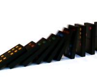 Het vallen van domino's Royalty-vrije Stock Foto