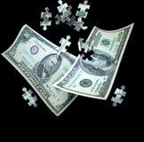 Het vallen van het geld Stock Fotografie
