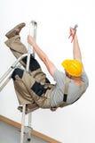 Het vallen van ladder Stock Foto's