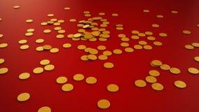 Het vallen van muntstukken stock video