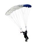 Geïsoleerden parachutist royalty-vrije stock foto