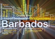Het van achtergrond Barbados concept gloeien Royalty-vrije Stock Foto
