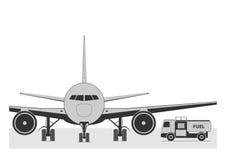 Het van brandstof voorzien van het vliegtuig royalty-vrije illustratie