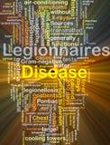Het van de Achtergrond legionnaires'ziekte concept gloeien Stock Foto's