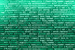 Het van de bron programmeringscodage codescherm Royalty-vrije Stock Afbeelding
