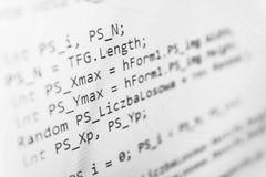 Het van de bron programmeringscodage codescherm Royalty-vrije Stock Afbeeldingen