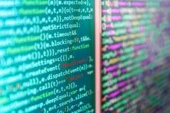 Het van de bron programmeringscodage codescherm Stock Afbeelding