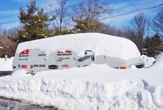 Het van de de blizzardsneeuw van snowzillajonas de winteronweer op 23 Januari, 2016 Stock Afbeelding