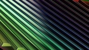 Het van een lus voorzien Animatie van een Regenboogspectrum van Gekleurde Roterende Weerspiegelende Rechthoeken stock videobeelden