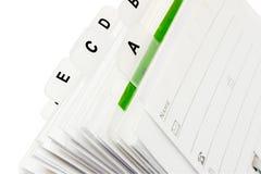 Het van labels voorzien Dossier van het Adreskaartje Stock Afbeelding