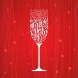 Het van letters voorzien gelukkig nieuw jaar Stock Afbeelding