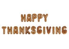Het van letters voorzien Gelukkige Dankzegging Stock Foto's