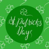 Het van letters voorzien Gelukkige St Patricka Dag Royalty-vrije Stock Foto's