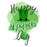 Het van letters voorzien Gelukkige St Patricka Dag Stock Foto