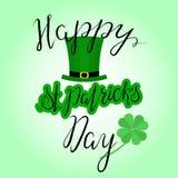 Het van letters voorzien Gelukkige St Patricka Dag Royalty-vrije Stock Fotografie