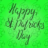Het van letters voorzien Gelukkige St Patricka Dag Stock Fotografie