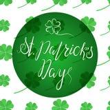 Het van letters voorzien Gelukkige St Patricka Dag Stock Afbeelding