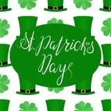 Het van letters voorzien Gelukkige St Patricka Dag Royalty-vrije Stock Foto