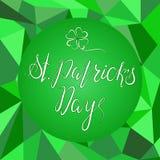 Het van letters voorzien Gelukkige St Patricks Dag Stock Fotografie