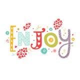 Het van letters voorzien geniet van met decoratieve bloemenelementen Stock Afbeelding