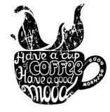 Het van letters voorzien Goede koffie goede stemming Royalty-vrije Stock Afbeeldingen