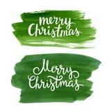 Het van letters voorzien van Kerstmis Royalty-vrije Stock Foto's