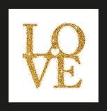 Het van letters voorzien Liefde met Hart Stock Fotografie
