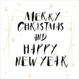 Het van letters voorzien met Vrolijke Kerstmis Royalty-vrije Stock Afbeelding