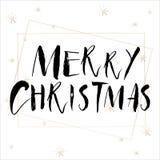 Het van letters voorzien met Vrolijke Kerstmis Royalty-vrije Stock Foto