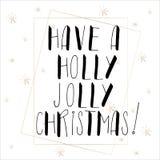 Het van letters voorzien met Vrolijke Kerstmis Stock Fotografie