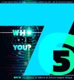 Het van letters voorzien ontwerp over donkere abstracte achtergrond Royalty-vrije Stock Afbeelding