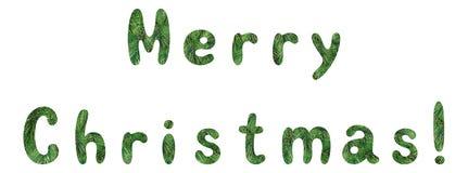 Het van letters voorzien vakantie Vrolijke Kerstmis Stock Afbeeldingen