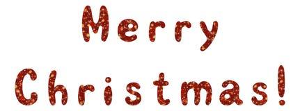 Het van letters voorzien vakantie Vrolijke Kerstmis Royalty-vrije Stock Foto