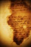 Het Van letters voorzien van de oude Hand royalty-vrije stock afbeeldingen