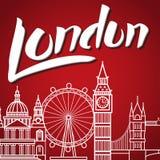 Het Van letters voorzien van Londen Backgound Royalty-vrije Stock Fotografie