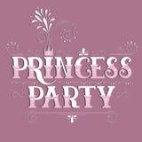 Het van letters voorzien van prinsesParty Stock Afbeelding