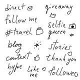 Het van letters voorzien voor sociale netwerken royalty-vrije illustratie