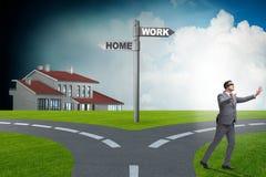 Het van het het het werkleven of huis saldo bedrijfsconcept stock illustratie