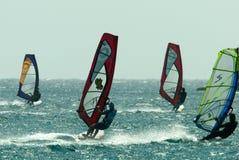 Het vangen van de wind Stock Foto's