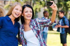 Het vangen van een gelukkig ogenblik Stock Fotografie
