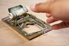 Het vangen van geld royalty-vrije stock afbeelding
